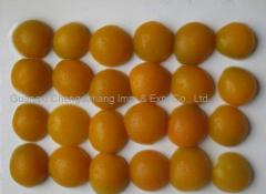 Canned apricots