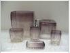 6pcs modern transparent resin bathroom set