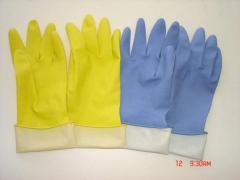 家用乳胶浸绒手套