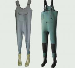 Bib and brace overalls for fishing