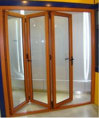 Interior doors of pleat-type