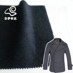 Navy woolen cashmere fabric