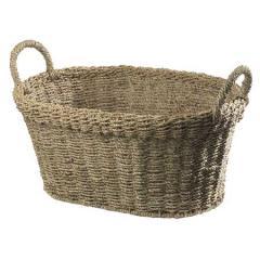 水草椭圆形篮子