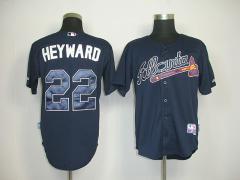 MLB Jersey Braves Heyward black#22