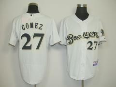 MLB Jersey Brewers Comez white#27