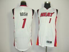 NBA Jersey Heat Bush White#1