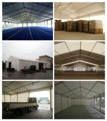 Coverings awning for warehouses
