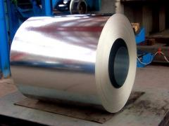 Steel zinced in rolls