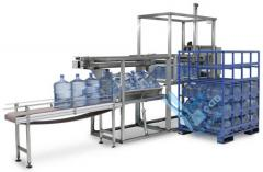 Conveyor systems to move the bottles