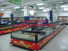 Supermarket Freezer Island Cabinet