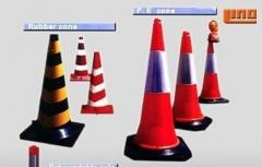 Cones, traffic, flexible