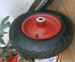Wheels for wheelbarrows
