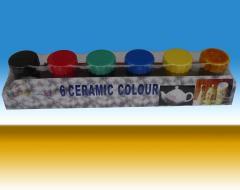 6色6连体陶瓷画颜料