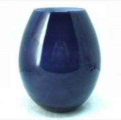 Handblown dark blue glass vase  4405406