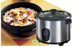 Stainless steel cylinder rice cooker