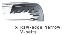 Raw-edge narrow V-belt