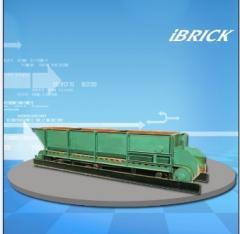 Box feeding machine for brick process line