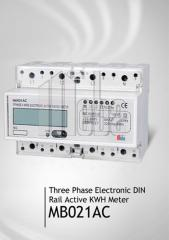 Electricity supply meter: electical,  three-phase