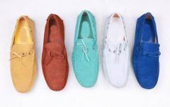 皮档休闲鞋