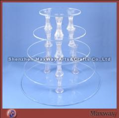 Exquisite Round Designed 5-Tier Transparent