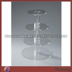 4 tier steady table party acrylic/perspex cupcake