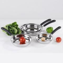 Frying pans made of stainless steel