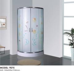Angular shower cubicle
