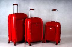 Plastic suitcases