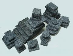 Foam-ceramic filters for filtering of melt metal