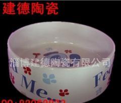 陶瓷猫狗食盆