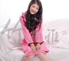 女式竹纤维浴睡衣 浴衣 睡袍 浴袍