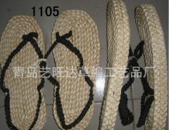 手工编织民间双层玉米皮草鞋