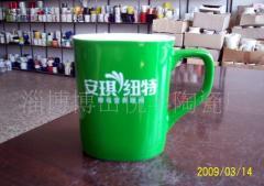 低温绿陶瓷杯