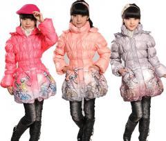 Down jackets for children