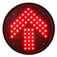 200mm Red Arrow Traffic Lamp with Transparent