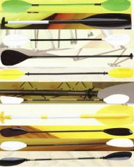 Oars for rowing while standing