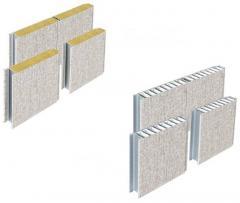 Composite rock wool steel wall panel