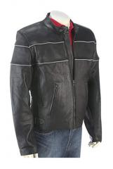 Genuine leather man jacket