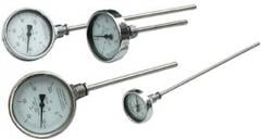 Bimetallic dial thermometers