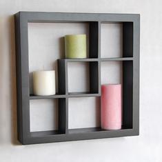 Wood wall display cube