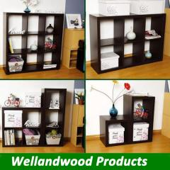 Wood book shelves free standing