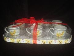Set6 90cc coffee cup saucer in gift box