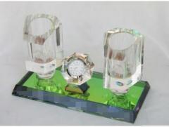 海霞水晶无线话筒架 水晶麦架 娱乐会所摆饰 专业话筒