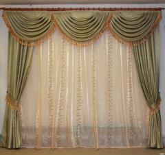 挡提花的窗帘
