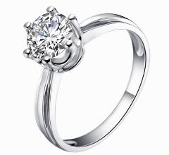 四川成都仿卡地亚款18K玫瑰金30分钻石戒指空托起版定做加工