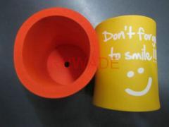 Foam can bottle cooler holder insulator