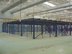 Metal constructions (columns, trusses, floor