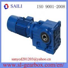 Helical Bevel Gear Speed Reducer with Hollow