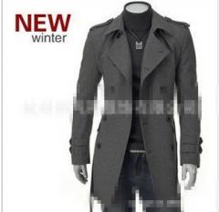 修身风衣外套 双排扣中长款毛呢大衣 风衣大衣 毛呢外套毛呢大衣