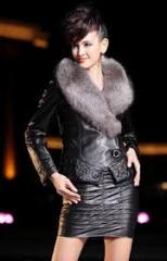 2012 Winter Mew Model, Women′s Leather Coat, High